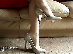 Just a look at Megans lovely heels, they will kindle your fetish and give you a lovely feeling...