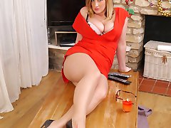 Heidi's legs are lovely and sexual and while making love she loves to wrap them around her partner squeezing hard and digging in with her high 5 inch heel! So go on indulge yourself in Heidi's festive flirt this Christmas