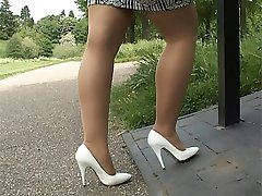 White high heels have always had a specially arousing effect upon men! And by sheer coincidence...