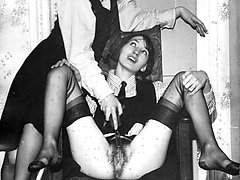 From when black stockings were the rule, not the exception!