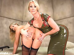 Simone Sonay is making an Army of Anal Soldiers and needs Jenna Ashley's ASS but first, Jenna must pass a series of anal training courses. Jenna takes a good tongue fucking from Simone. Both Girls perform a lot of Ass to Mouth. Jenna Shows Simone how she can Gape. Simone smoothers Jenna with her voluptuous asshole then fucks Jenna in the ass with a giant strap on WHILE her her is up her ass.