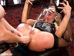 Amy Brooke takes her amazing anal skills to the next level in this hot update with Audrey Hollander!  These two beautiful girls are not afraid to explore their limits.  They start with Audrey fucking Amy's ass with an extensive line up of toys going from small to extra large.  Amy is also a powerful squirter and soaks her whole body from massive orgasms.  She then gets fisted, double anal fisted and stretched ultra wide with a speculum.  Audrey then gets on the receiving end to be fucked with huge toys and Amy's fist.