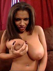 Monster sized black tit babe fucks cock