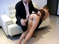 Abi receiving a super-long OTK punishment