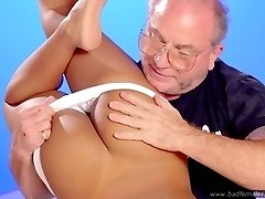 Heavenly babe - big tits and ass - shamefully exposed spanking punishment