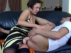 Strap-on armed female getting out of control fucking a guys tight asshole