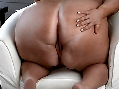 BBW Donna is showing off her tight vagina! The sexy blonde with great big tits has on her fancy lingerie as she plays with her slit until she creams!
