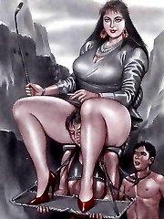 hentai girl fucks guy with strapon