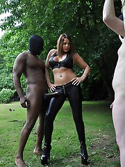 Tied up, naked and helpless! Now that's how you turn a naughty little submissive into a cuckold slut! His cock needed to be slapped and spanked with Mistress Carly's crop, and she really enjoyed dishing out some special kind of punishment too him