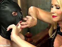 Mrs. S is back in a brutal interracial cuckolding domming her slave, Jay Wimp! Jay is totally in...