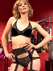 Jay Rising gets caught sniffing panties in a lingerie store and is severely punished in the back...