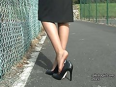High Heeled ladies like Claire are now often seen in English towns and cities. If you have a shoe fetish you often find that high heels give you the urge and make you hard leaving you frustrated when the lady walks away, but not so with Claire, who you can enjoy again and again