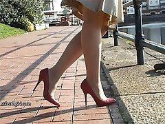 Ladies like Sonia make men hard in their experience of foot worship and fetish! It's the choice of shoe, the style and their walk that does it every time! Of course it tempts you and it titillates your desire, as the heel speaks to you the urge gets too strong