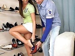 Amazing green eyed babe gets her perfect ass body fucked hard after shopping for shoes in this hot cumfaced picset