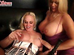 Sexy sluts invite a fan over for some fun