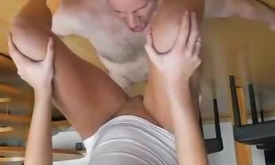 Skinny amateur slut brutally fisted by a gang of brutes