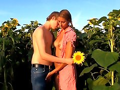 These teens disappear into the sunflower field for their naughty sexual adventure. It`s the perfect spot t have wild sex without being watched by anyone else.