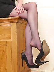 Lets be honest, when you see a high heeled lady things start to happen don't they? Especially if the lady has an air or sophistication and confidence about her! So you can imagine the effect that Dr Holly has on the men