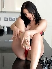 We are quite fortunate that Ellena contacted us to show off her sexy small feet. Once we saw her...