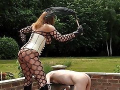 After failing to impress Mistress Carly with his cock, she then wraps her pathetic slave in...