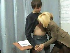 teacher with schoolboy