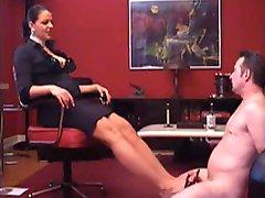 German Mistress shoejob footjob