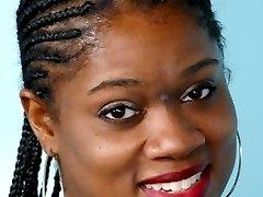 Chubby black girl fucks her own pussy hard
