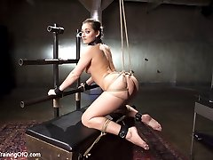 All natural slave girl Dani Daniels trembles at the sight of a cane, but our conditioning...