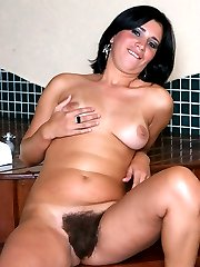 Hot chick Bianca gives a cock a sinful mouthfuck and rides it with her natural hairy pussy in...