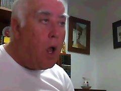 Spanish Chubby Grandpa with thick Dick