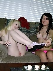 Krystal And Remelia Kissing And Modeling Nude Together