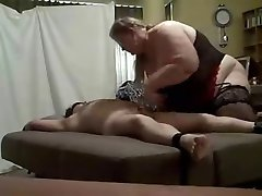 Dominant BBW and her slave
