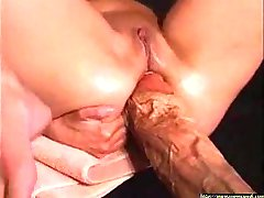 Horny Babe get Fucked By a Monster Dildo !!!