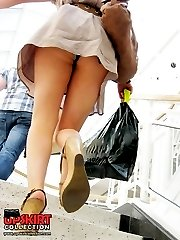 Great thong panty upskirt view