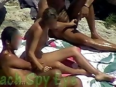 Nudist having group sex at nude beach