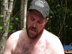 Bears fuck outside