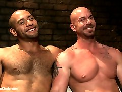 Leo Forte brings his date Mitch Vaughn into his playroom. As Mitch has his hands tied above his...