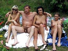 Naked girls, hidden camera on the beach
