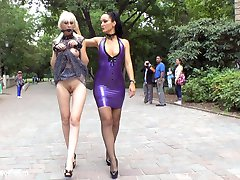 Perky blonde slave girl Alexa Wild's first time on Public Disgrace! This gorgeous slut was hand picked to service the streets and bars of Budapest. First things first with this whore is a brutal corporal punishment and electric play with zappers. Then we parade this bright red ass and perfect tits around a crowded public park for all to gawk at and photograph! After the cops show up we take this eager hole to a crowded pub and let the patrons have at her. She takes it in all her holes and even offers up an epic DOUBLE VAGINAL after being FISTED! This horny slut then gets drenched in cum.