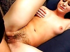 Super Babe Leah's Hairy Holes Get FUCKED!
