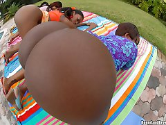This hot ebony 6 sum is outta control just look at the way they shake those phat asses