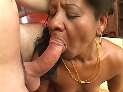 Ethnic MILF Takes It Hard From The Back