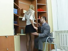Sex in the office with Russian girl