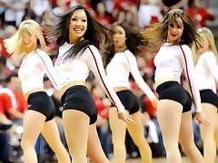 Cheerleaders jerk off challenge