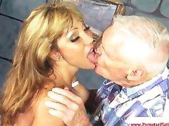 Ava Devine getting mouthfuls of cum