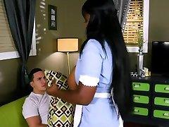 busty ebony maid for hot sex