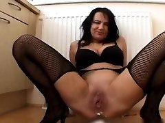 Horny brunette gaping slut playing part6