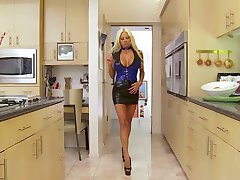 Hot Nikita in latex takes a black cock