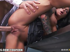 Incredibly HOT teacher's assistant Crista Moore fucks her prof