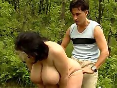 HOT FUCK #106 (Busty Natural BBW by the Wooden Path)
